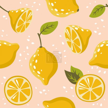 Photo for The pattern with lemons. For textiles, cards, decorations, wallpaper - Royalty Free Image
