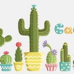 Постер, плакат: Set of cacti