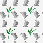 Seamless pattern with a koala Flat Vector simple