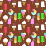 Постер, плакат: Set icons of ice cream Pattern background