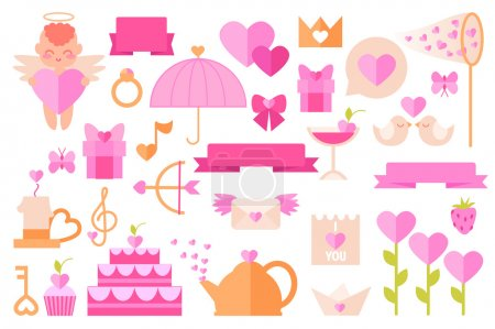 Various objects on a theme of Valentine's Day
