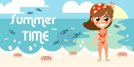 Summer vacation with character design