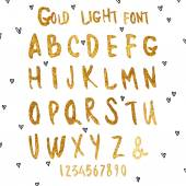 Golden vector watercolor letters Hand-written alphabetVector metallic paint blob font Glamour font goldHand drawn Gold watercolor letters vector