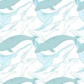 Nahtlose Muster mit Walen