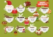 Christmas Cups of coffee