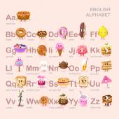 Cute alphabet with sweets