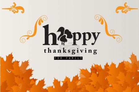 Illustration for Happy thanksgiving - Royalty Free Image