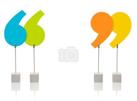Photo pour 3D photo généré des guillemets colorés - image libre de droit