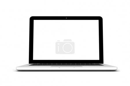 Photo for Modern laptop isolated on white. - Royalty Free Image