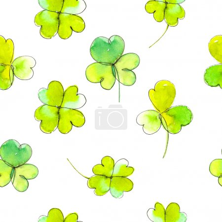 St. Patrick's background with leaves of clover.