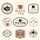 background with tea logo