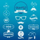 Set of hipster vintage retro Logos and Icons Simple flat elements and symbols for design