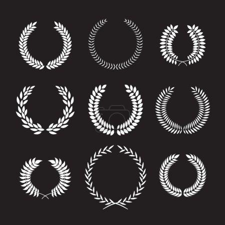 Set of laurel frames