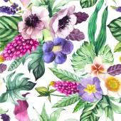 """Постер, картина, фотообои """"Векторные иллюстрации с акварелью цветы."""""""