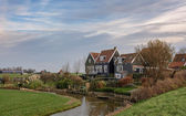 Look at a hamlet on the island Marken, Netherlands.