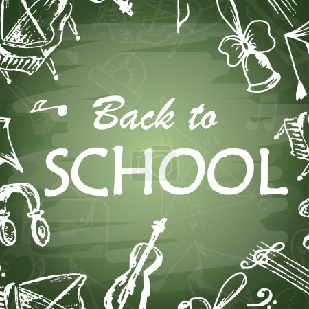 Back to school typographical background. Freehand ...