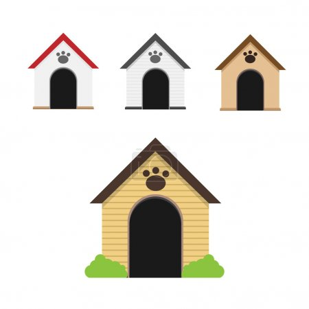 Dog home vector set