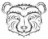 bear line drawing hand drawn vector design