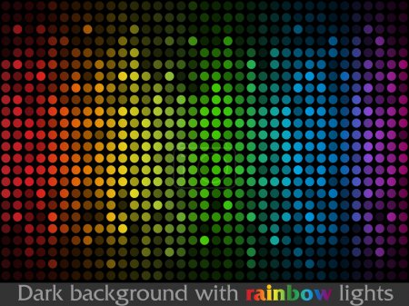 Illustration for Vector black pattern made of colorful flashing points - Royalty Free Image