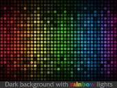 Vector black pattern made of colorful flashing points