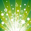 Green explosion with many white stars vector backg...