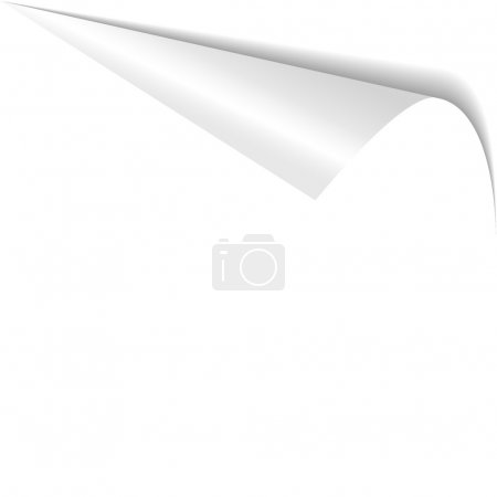 Photo for Curled white paper corner isolated on white background - Royalty Free Image