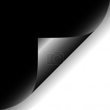 Photo for Curled black paper corner isolated on white background - Royalty Free Image