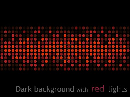 Photo for Abstract black background with red lights - Royalty Free Image