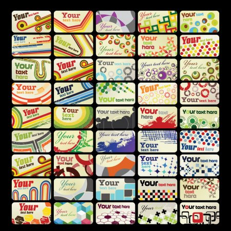 Photo for Set of  retro business cards - Royalty Free Image