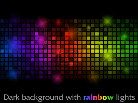 Photo for Vector black pattern made of colorful flashing points - Royalty Free Image