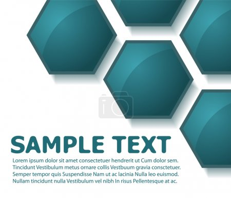 Photo for Text template made from blue hexagons - Royalty Free Image
