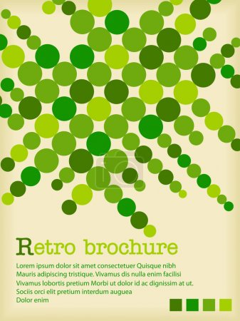 Photo for Retro text pattern with green circles - Royalty Free Image