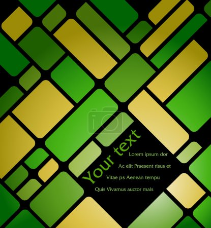 Photo for Abstract vector background made from green  and yellow squares - Royalty Free Image