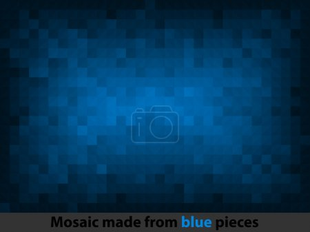 Illustration for Abstract text pattern and blue background - Royalty Free Image