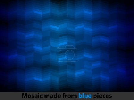 Photo for Abstract text pattern and blue background - Royalty Free Image