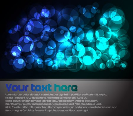 Photo for Abstract background with blue lights with place for text - Royalty Free Image