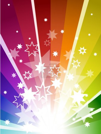 Photo for Color explosion background with stars and stripes - Royalty Free Image
