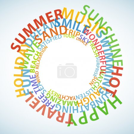 Photo for Words which relate with summer and holidays twisted in circle - Royalty Free Image
