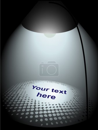 Photo for Text pattern with light from table lamp - Royalty Free Image
