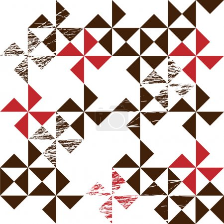 Photo for Seamless pattern made from brown and red triangles - Royalty Free Image