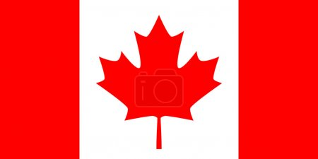 Photo for Flag: Canada white an red - Royalty Free Image
