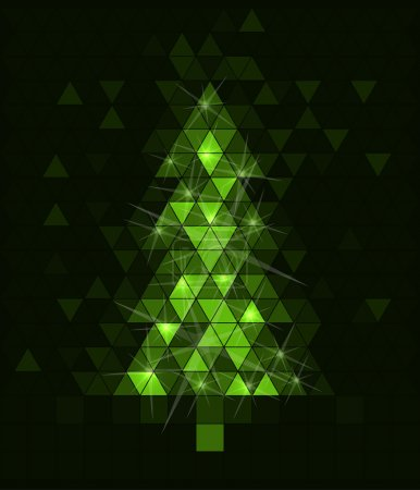 Photo for Green Abstract Christmas tree - Royalty Free Image