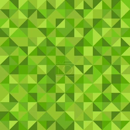 Illustration for Seamless abstract pattern made from green triangles - Royalty Free Image