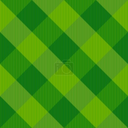 Illustration for Seamless textile pattern with squares. Vector illustration - Royalty Free Image