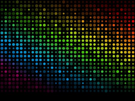 Photo for Abstract dark background with rainbow lights - Royalty Free Image