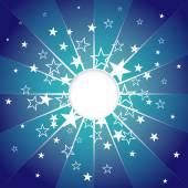 Abstraktní modrá hvězda exploze