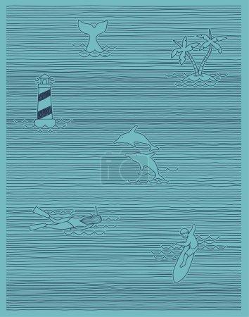 Summer print stripe