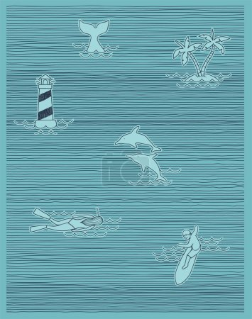 Summer print stripe other