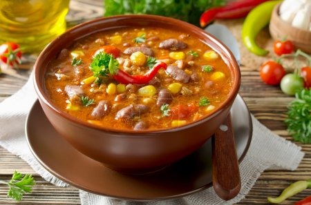 Photo for Mexican dish Chili Con Carne in plate - Royalty Free Image