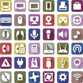 Computers and accessories icons set